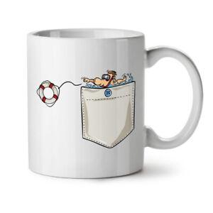 Save Life NEW White Tea Coffee Mug 11 oz | Wellcoda