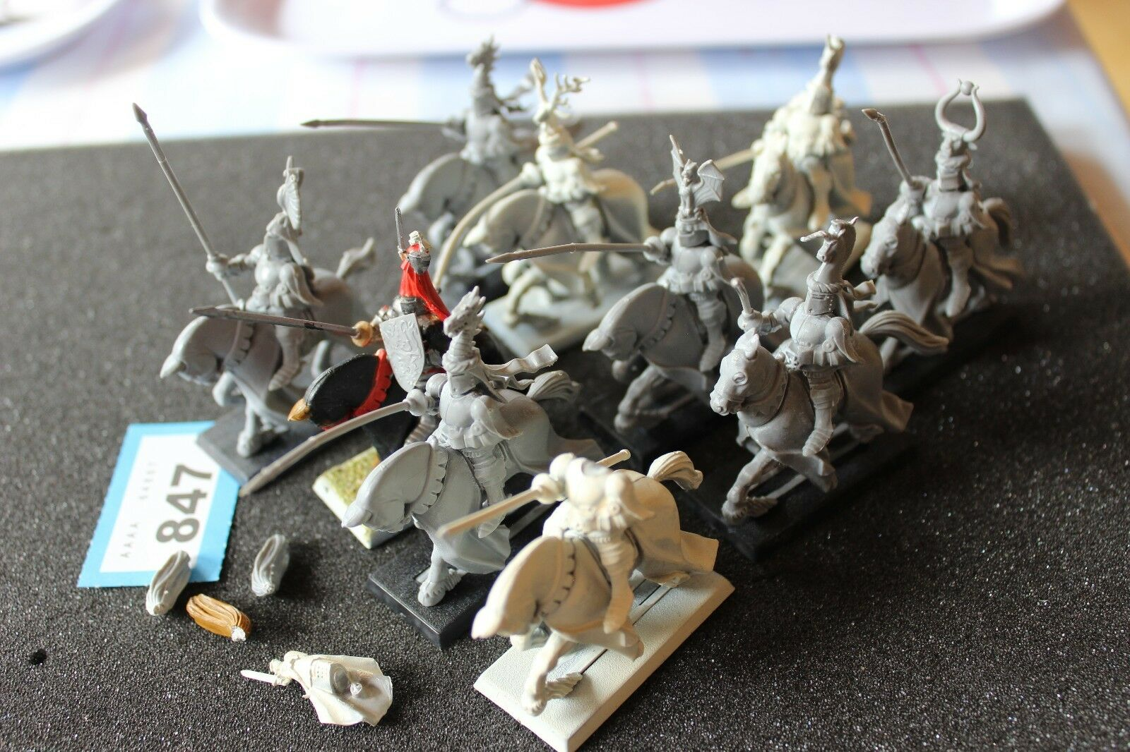 Games Workshop Warhammer Bretonnian Knights of the Realm 10 Models Army Regiment