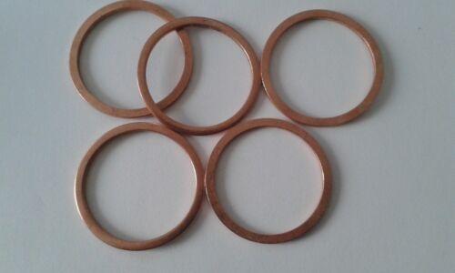 5 Stück Kupferdichtring  Dichtung Kupfer 24x30x2 mm DIN 7603  Form A