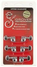 """Grover 406C Rotomatic Mini 3 per Side Self Locking Machine Heads, Chrome"""