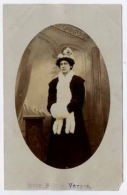 (w15v69-100) RP of Nellie Vernon Actress/Opera Westhoughton 1920 Unused G