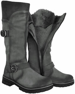 Warm Boots Suede New Winter Fur 3 Marco High Lined 26615 Black Tozzi Size Knee qtwanvOI