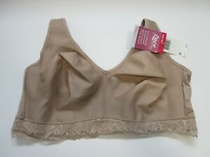 d26c7f6559 Details about NEW Olga Full Figure Lace Escape Wire Free 2ply Laminated Bra  38D GQ3381A