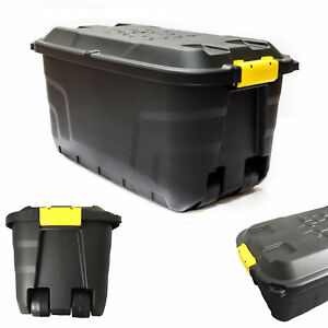 Image Is Loading Large Strata Storage Trunk On Wheels 145 Litre