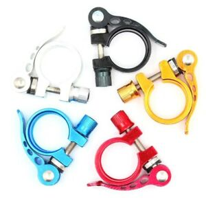 Alloy Cycling Bike Bicycle Quick Release Seat Post Bolt Binder Clamp m0y