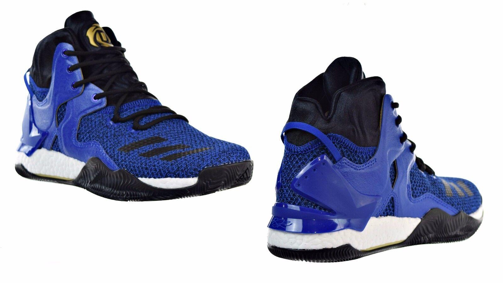 Men's Adidas Originals D Rose Blue Solid/Black/Metallic Gold BB8290