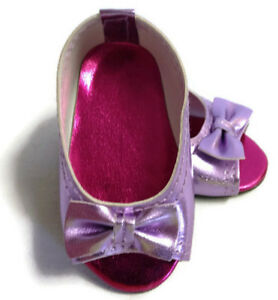 Lavender Peep Hole Sandal Shoes made for 18 inch American Girl Doll Clothes