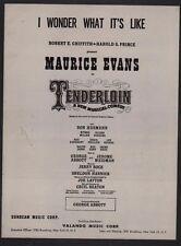 I Wonder What It's Like 1960 Tenderloin Sheet Music