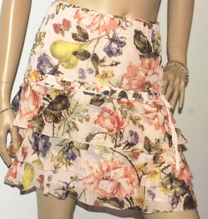 Karen Millen Peach Floral Short Skirt, BNWT   (SA119)    KM8
