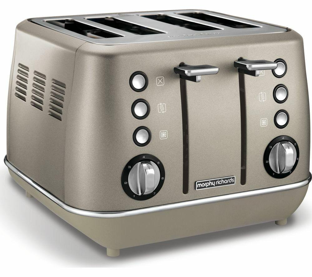 MORPHY RICHARDS Evoke Premium 4-Slice Toaster - Platinum -