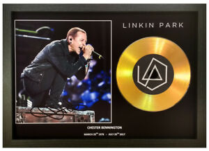 CHESTER BENNINGTON - LINKIN PARK SIGNED GOLD DISC COLLECTABLE MEMORABILIA GIFT 2