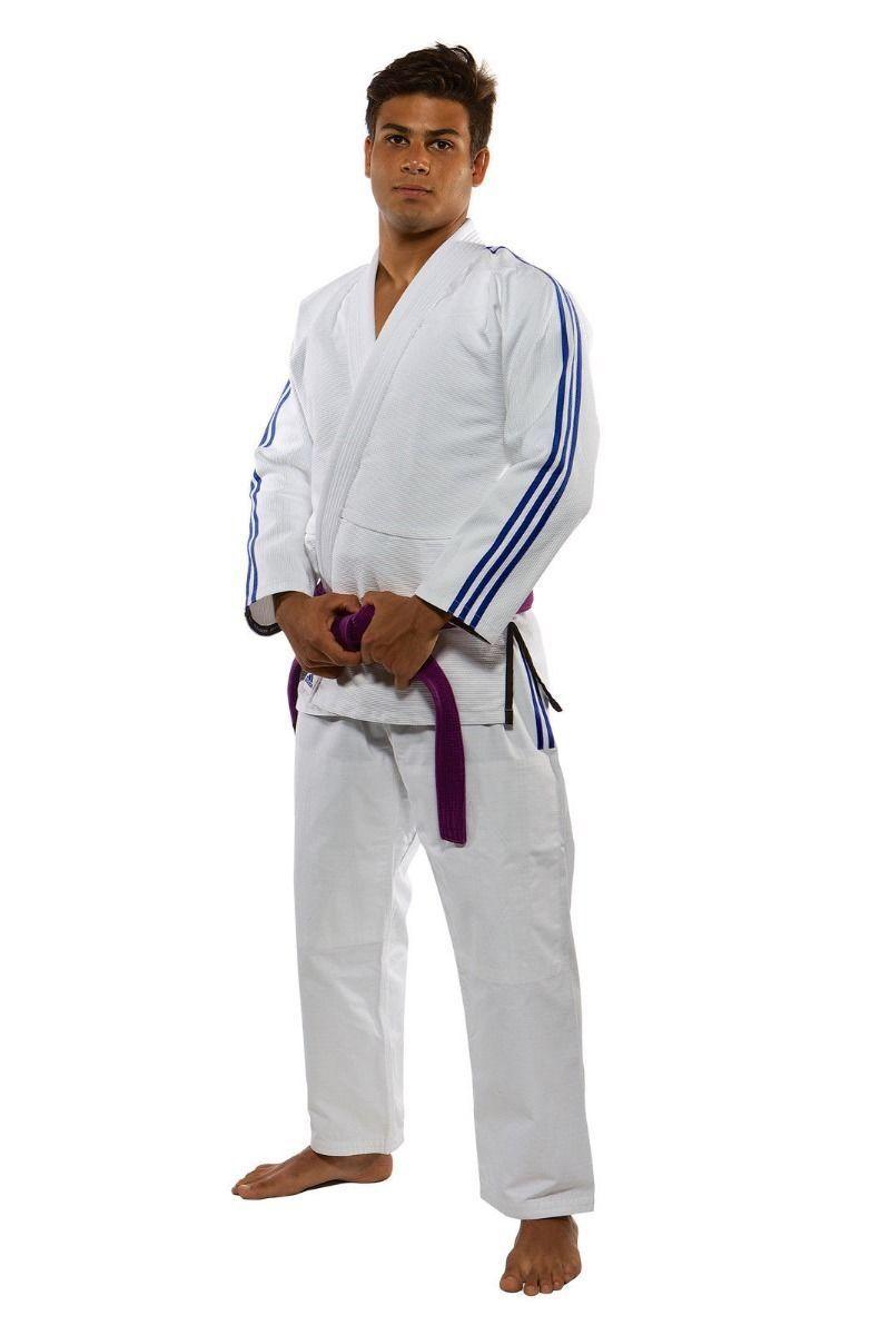 Adidas BJJ Gi Adult Suit Contest Uniform White JU JITSU Brazilian Jiujitsu Men's