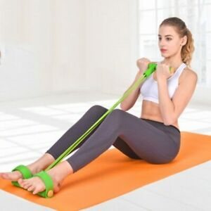 Resistance Bands Weight Loss fitness  4 tube Tension Trainer Foot Expander Chest