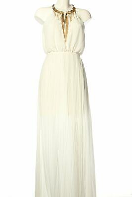 H&M Maxikleid weiß Elegant Damen Gr. DE 38 weiß Kleid ...