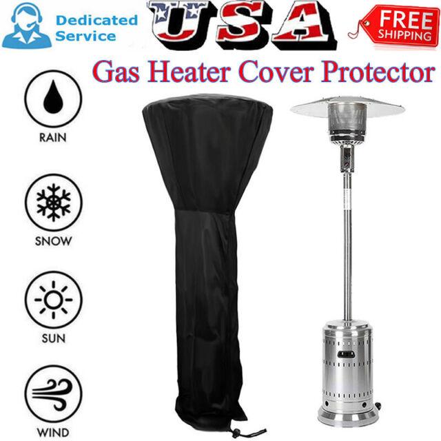 Outdoor Black Patio Gas Heater Cover Protector Garden Polyester Waterproof UK