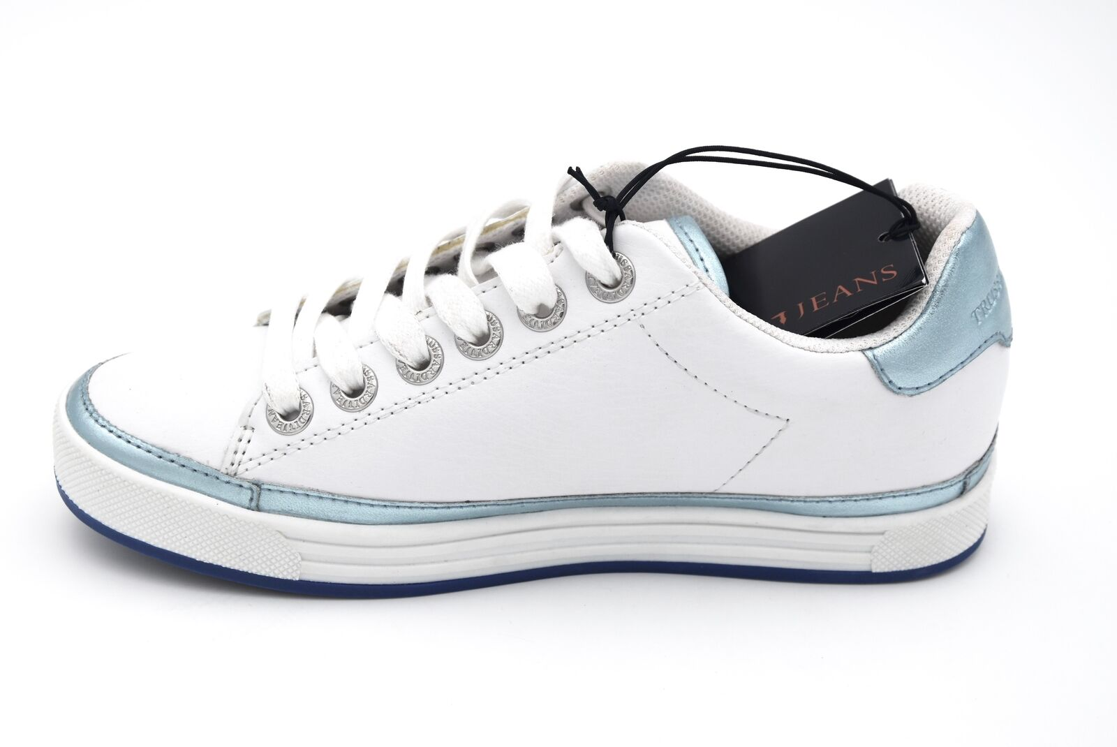 TRUSSARDI JEANS WOMAN baskets chaussures CASUAL FREE TIME LEATHER LEATHER LEATHER CODE 79A00130 4612af