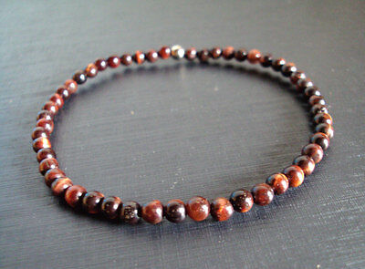 Fashion Jewelry Red Tiger Eye Anklets Red Anklets,stone Anklets,women Anklets,men Anklets