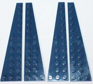 Lego Dark Blue Wedge Plate 12x3 4 pieces NEW!!!