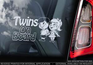 jumeaux bord vitre de voiture autocollant brother s ur enfant dessin ebay. Black Bedroom Furniture Sets. Home Design Ideas