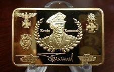 WWII WW2 German Deutsche Wehrmacht Panzer Tank Afrika gold Bar medal Gold