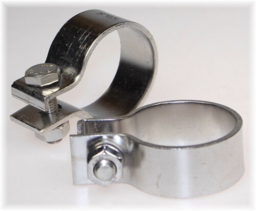 "1x BayWorld V2A Edelstahl 50,5mm DIN Schelle Breitbandklemme 2.00/"" Industrie TOP"