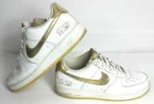 Mujer hermosa campo donante  Nike Air Force 1 XXV Af-1 82 White Metallic Gold RARE Size 11 for sale  online | eBay