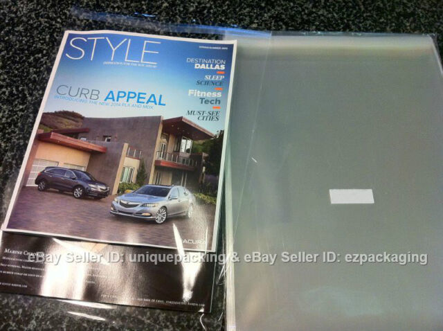Poly Bags for 11x17 item 300 Pcs 11 7//16 x 17 1//4 Clear Resealable Cello