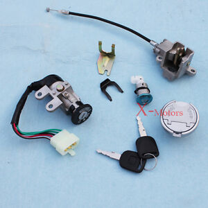 New 5 Wire Key Ignition Switch Set Scooter Moped 125cc 150cc 250cc ...