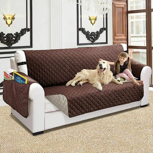 Sofa Couch Cover Pet Dog Kids Mat Protector Water Resistance Quilted Reversible