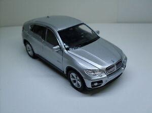 BMW-X6-silber-Welly-Auto-Modell-ca-1-35-1-38-Neu-OVP