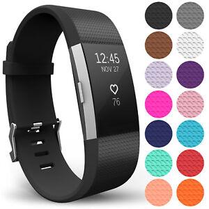 Fitbit-Charge-2-Armband-Silikon-Sport-Ersatzarmband-Watch-Strap-fuer-Damen-Herren