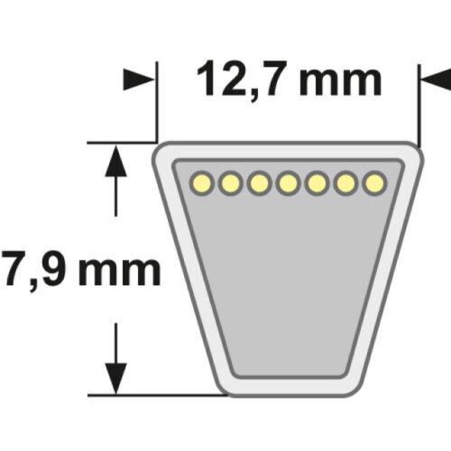 Schnitt TIELBURGER HB-110-145  Keilriemen für T55 Mähbalken