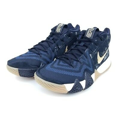 competitive price bbc4e 6cb3b Nike Kyrie 4 Pitch Navy Blue Metallic Gold White Green 943806 403 Men's  Size ** | eBay