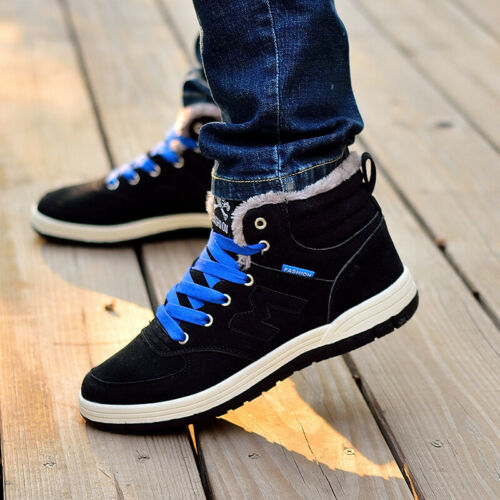 Men Winter Shoes Snow Boots Fashion Outdoor Plush Thermal Fur Lined Trainer Size