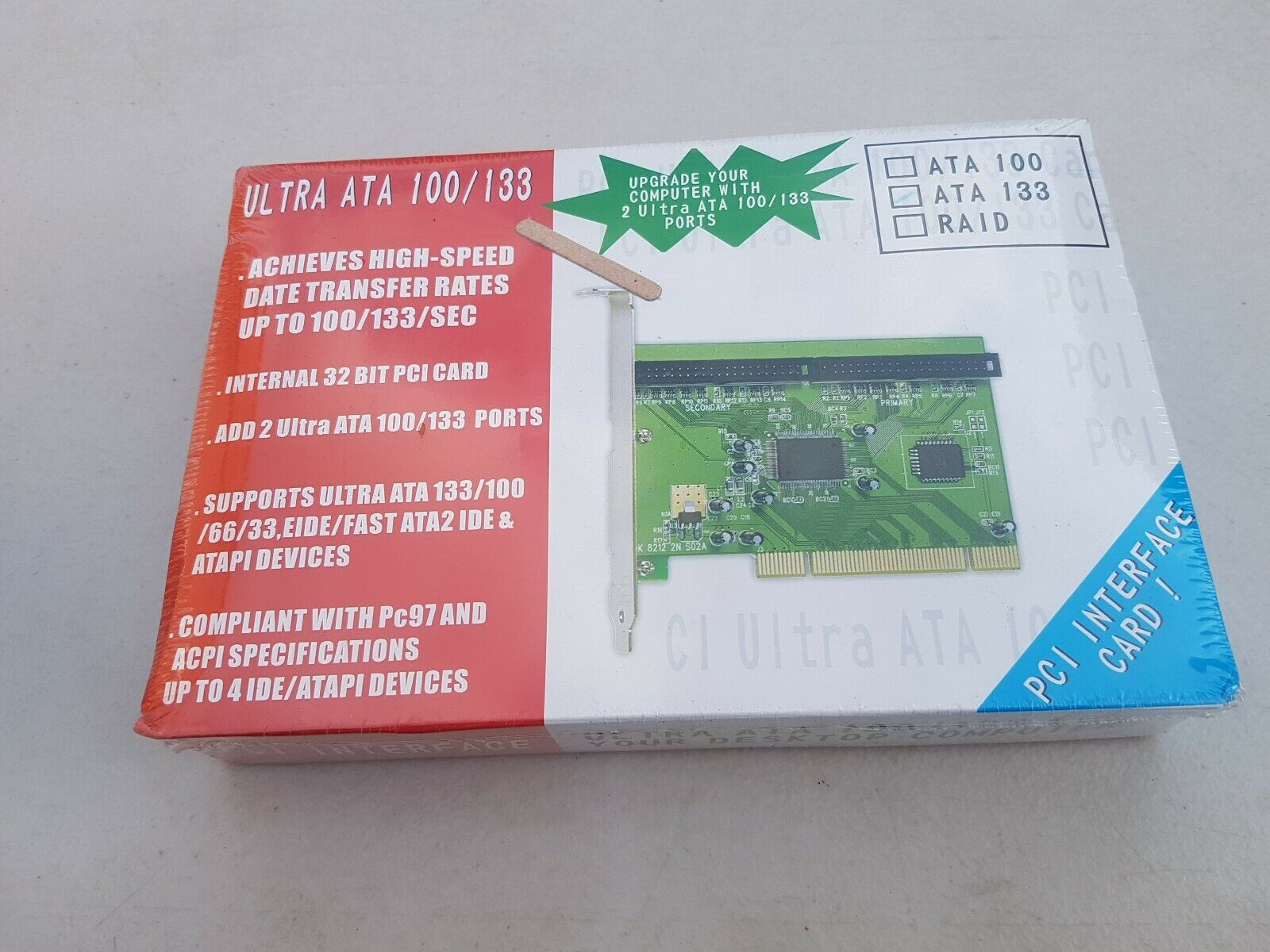 PCI Ultra ATA 100/133 INTERFACE CARD for your Desktop Computer - UK