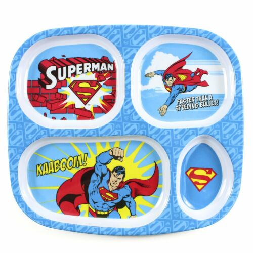 Bumkins DC Comics Superman Melamine Divided Plate