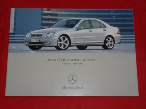 MERCEDES w203 Classe C berline listino prezzi di 2003