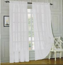 MONTE CARLO SUPER WIDE TAILORED PAIR SHEER VOILE CURTAINS