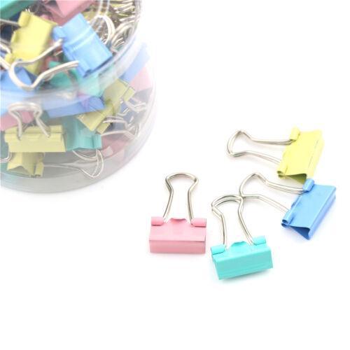60X 15mm coloré Metal Binder clips fichier porte-trombones fournitures deburZH