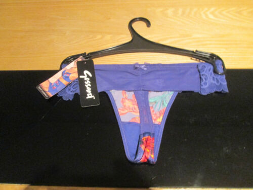 SALE Gossard Floral Explosion Sapphire Thong Size 10
