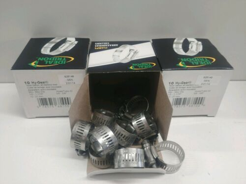 """NEW IN BOX 30 HY-GEAR STAINLESS STEEL 1//2/""""-1-1//16/"""" HOSE CLAMPS 6810 LOT OF"""