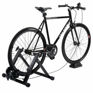 5-Level-Resistance-Magnetic-Indoor-Bicycle-Bike-Trainer-Exercise-Stand-Black