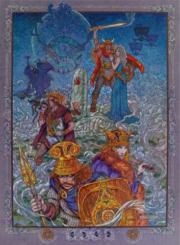 8x11 By Jim FitzPatrick TWILIGHT OF THE GODS CELTIC IRISH FANTASY ART