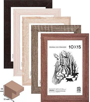 Bilderrahmen Eco Holz 10x15 13x18 15x21 20x20 21x30 30x30 Fotorahmen A4