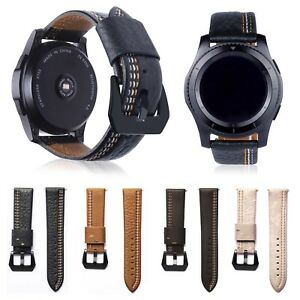22mm-Genuine-Leather-Band-Classic-Clasp-Strap-Belt-for-Samsung-Gear-S3-Frontier