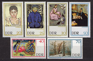ALEMANIA-RDA-EAST-GERMANY-1967-MNH-SC-909-914-Paintings-from-Dresden-gallery
