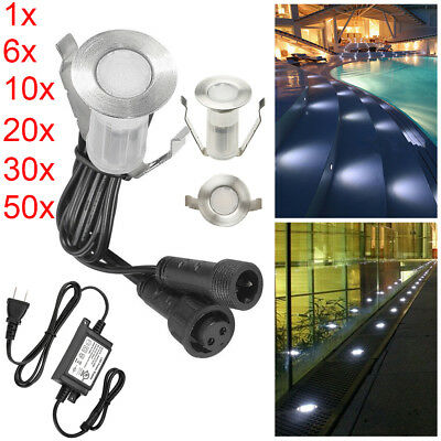 19mm 12V Outdoor Waterproof LED Deck Step Lights Garden Yard Recessed Spot Lamp
