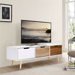 half off dd984 535aa Details about MDF Corner TV Cabinet/Unit Wooden 2 Drawers Tv Stand  Sideboard Storage Furniture