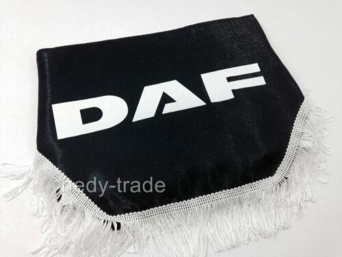 DAF LKW Gardinen Vorhänge Frontscheibenborde Wellenform Emblem Logo Schwarz