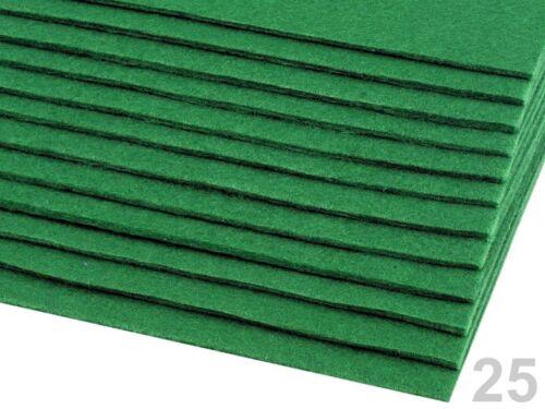 Placa de fieltro 20x30cmx3mm llavero fieltro sustancia bastelfilz verde